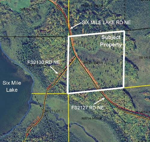 PRICE REDUCED – SWSW Six Mile Lake NE Road, Unorg (144-27) Twp, Bena