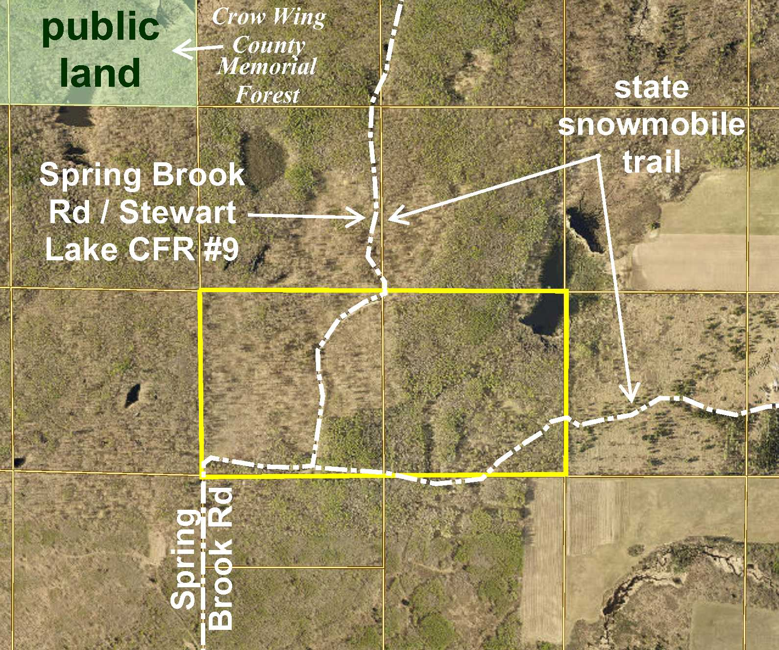 SESW&SWSW Spring Brook Road & Stewart Lake County Forest Road #9, Timothy Twp, Pine River
