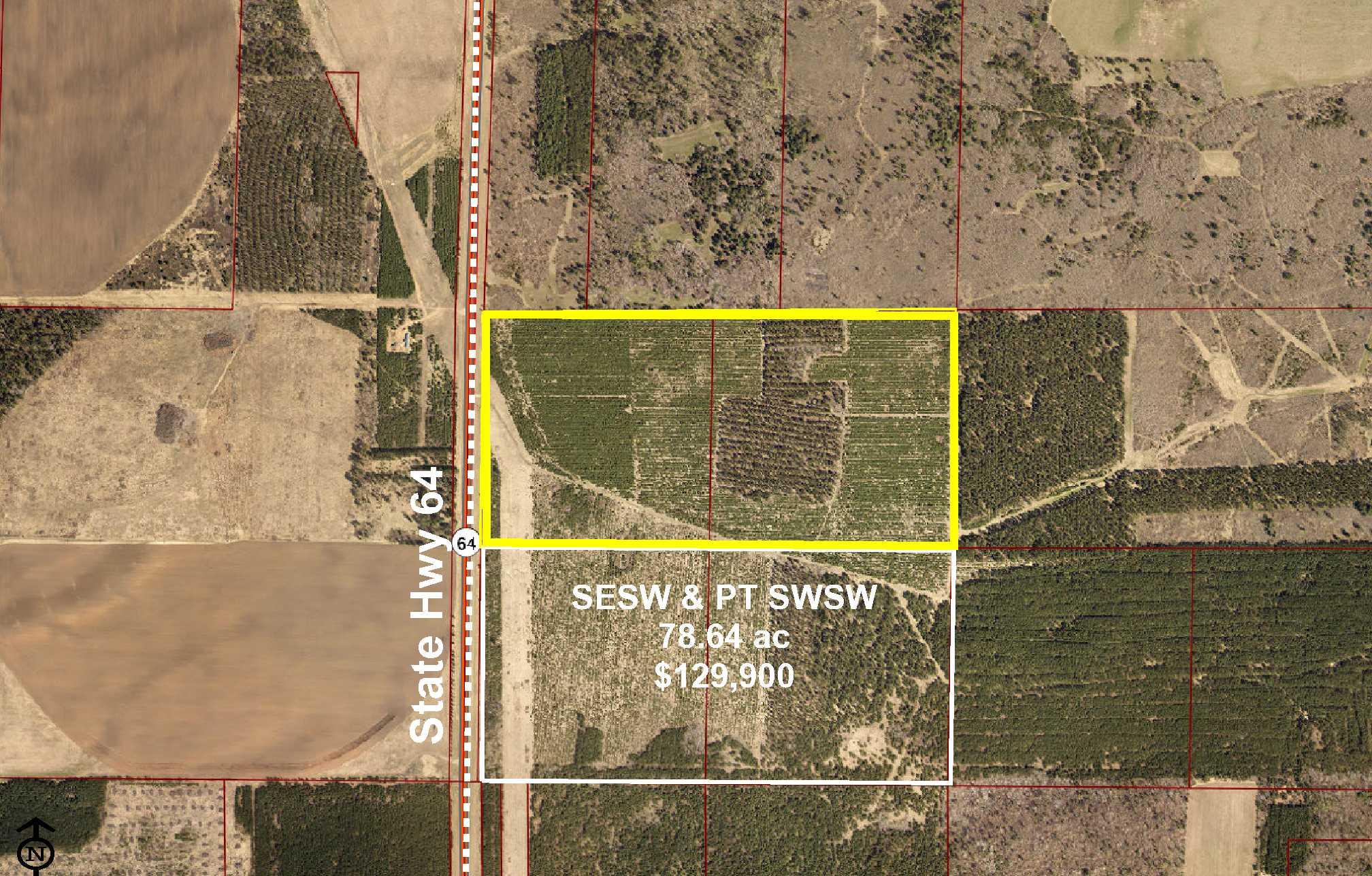 NESW & NWSW, State Hwy 64, White Oak, Akeley