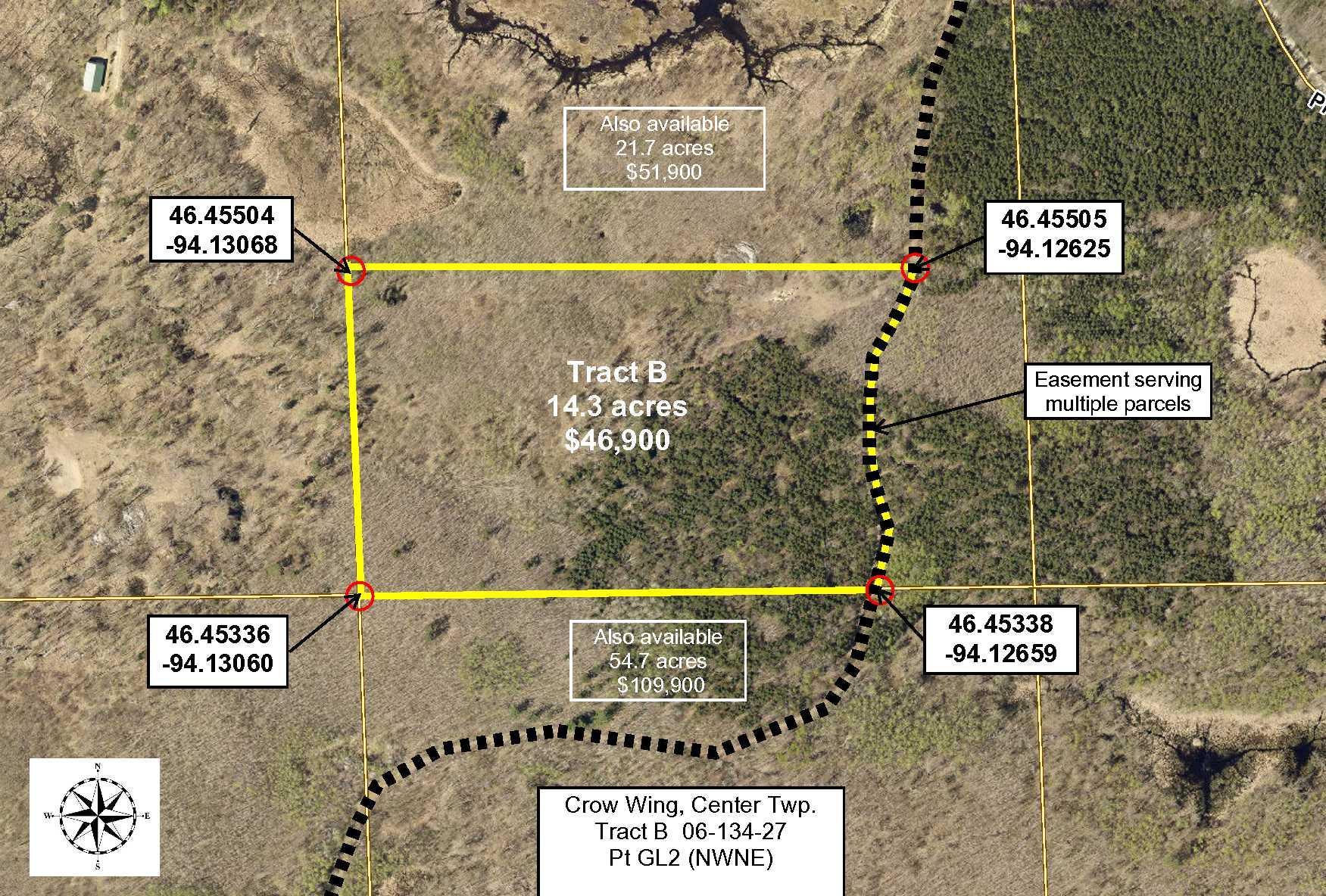 Tract B, 06-134-27, Pt GL2 (NWNE) Sorenson Lk Rd, Merrifield