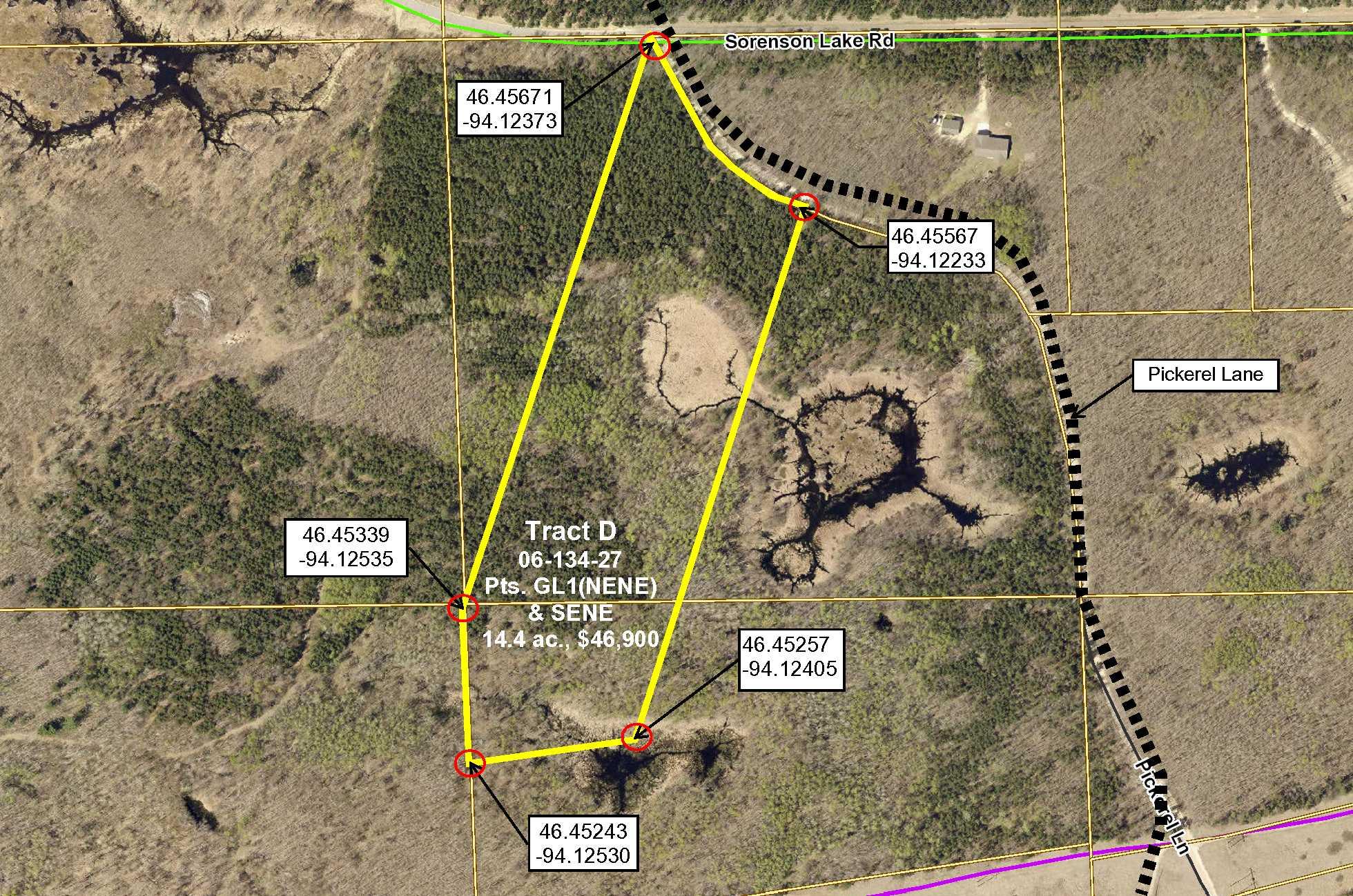 Tract D, 06-134-27 Pt GL1 (NENE) & Pt SENE, Sorenson Lk Rd, Merrifield
