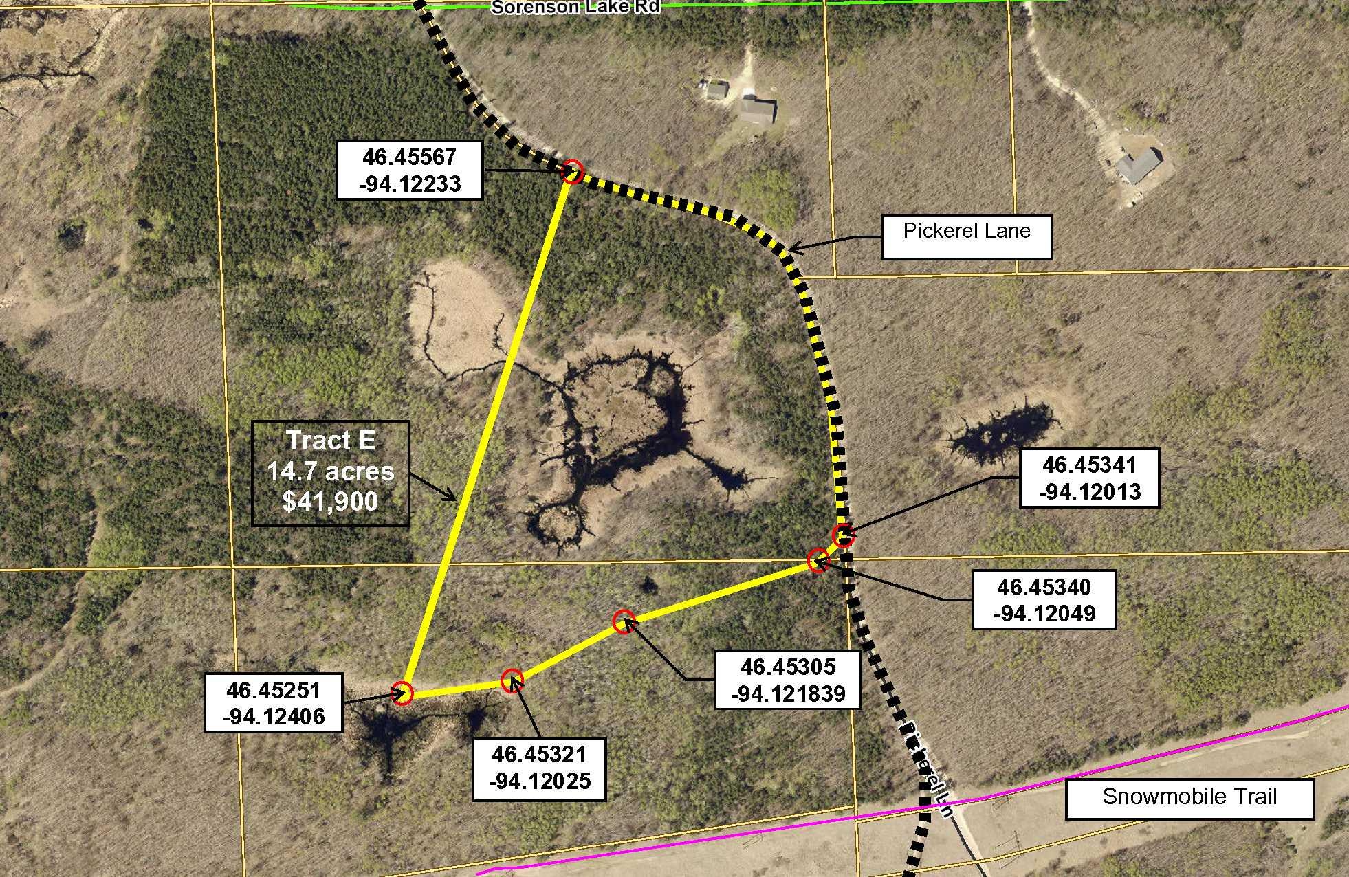 Tract E, Pt GL4(NWNW), 05-134-27 AND Pt GL1(NENE) & Pt SENE, 06-134-27 TBD Pickerel Lane, Merrifield