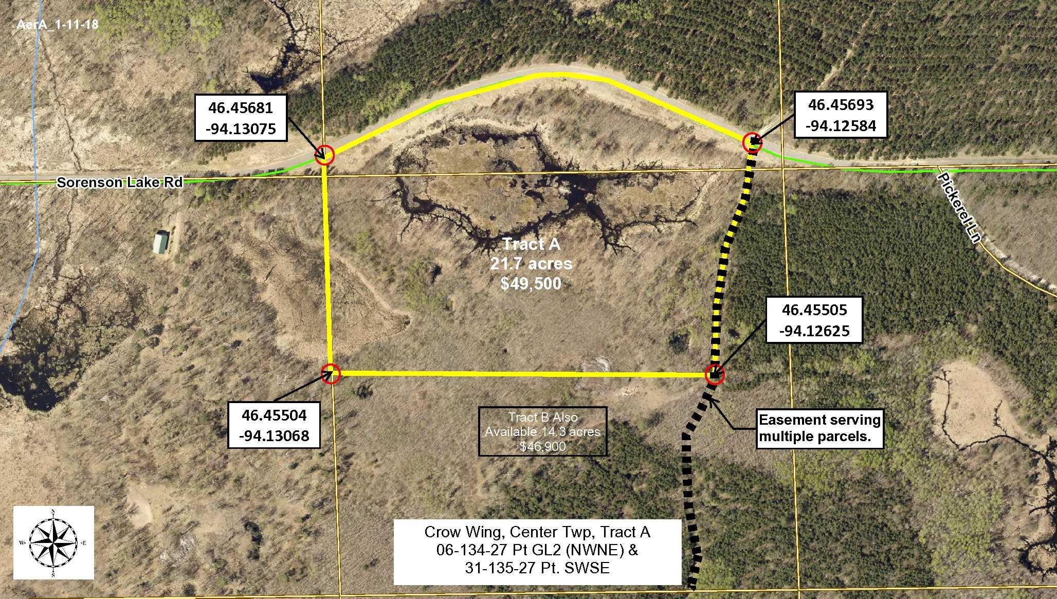 Tract A, 06-134-27, Pt GL2(NWNE) & 31-135-27, Pt SWSE, Sorenson Lk Rd, Merrifield