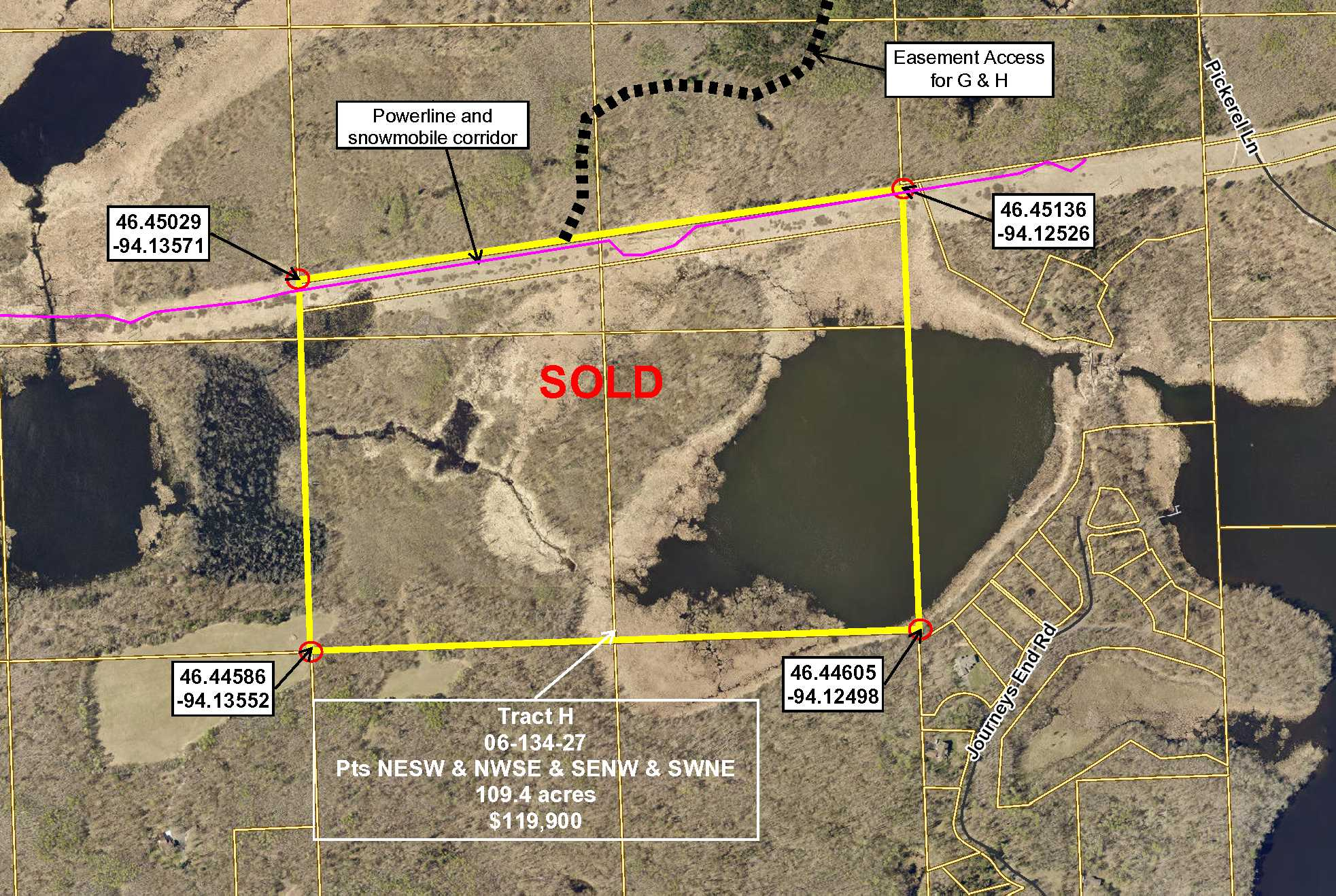 Tract H, 06-134-27, PT NESW, Pt NWSE, & SENW & SWNE Lk Rd, Merrifield, Crow Wing,