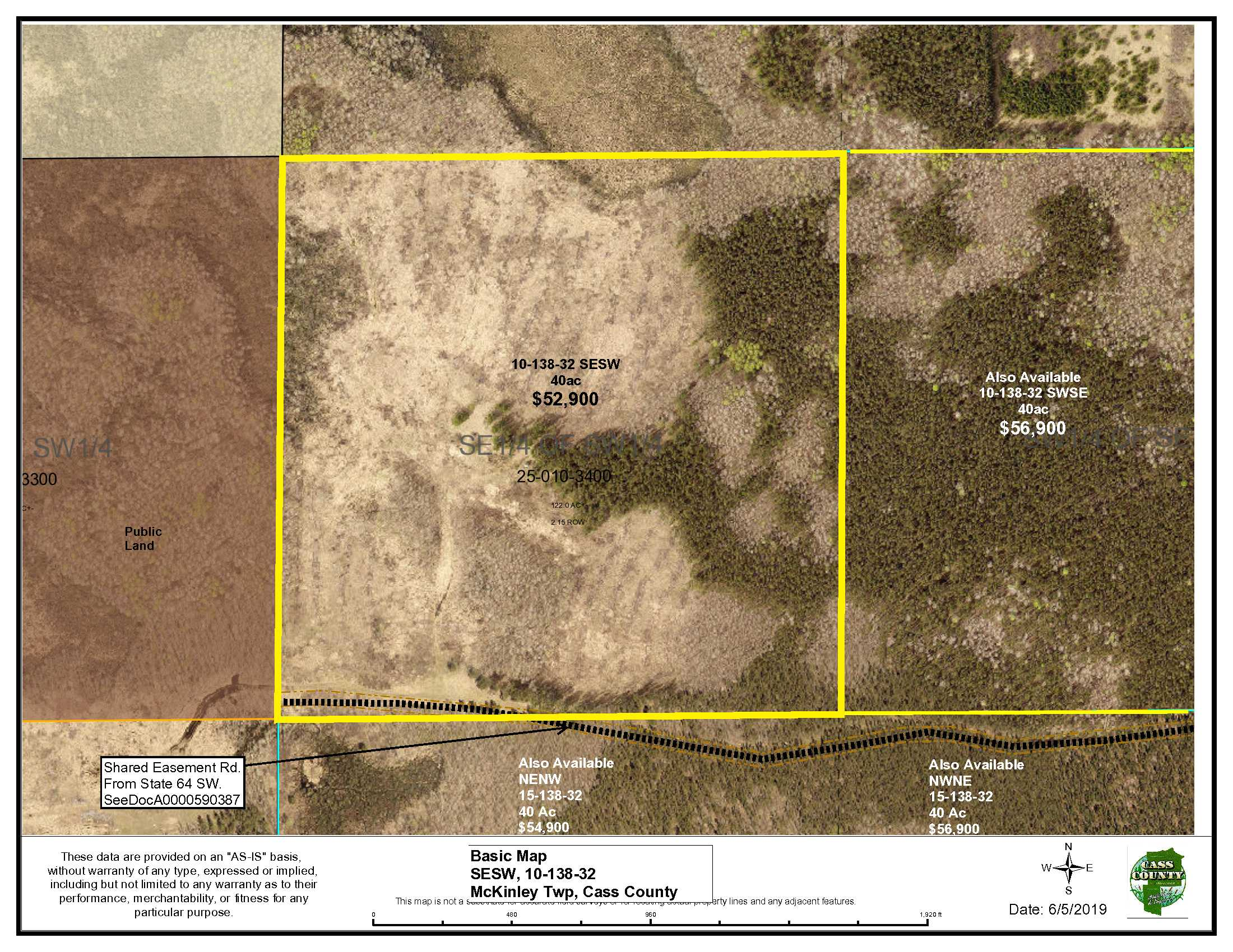 SESW, 10-138-32, Off State 64 SW, McKinley, Backus
