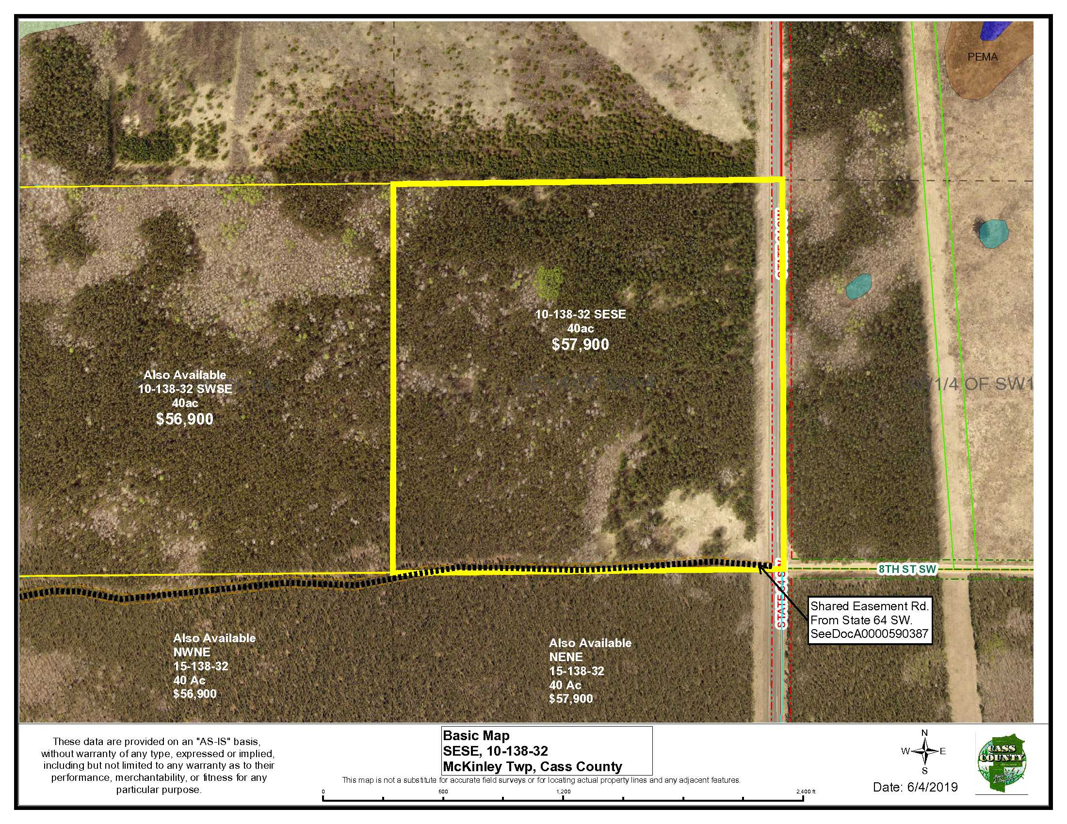 SESE, 10-138-32, State 64 SW, McKinley, Backus