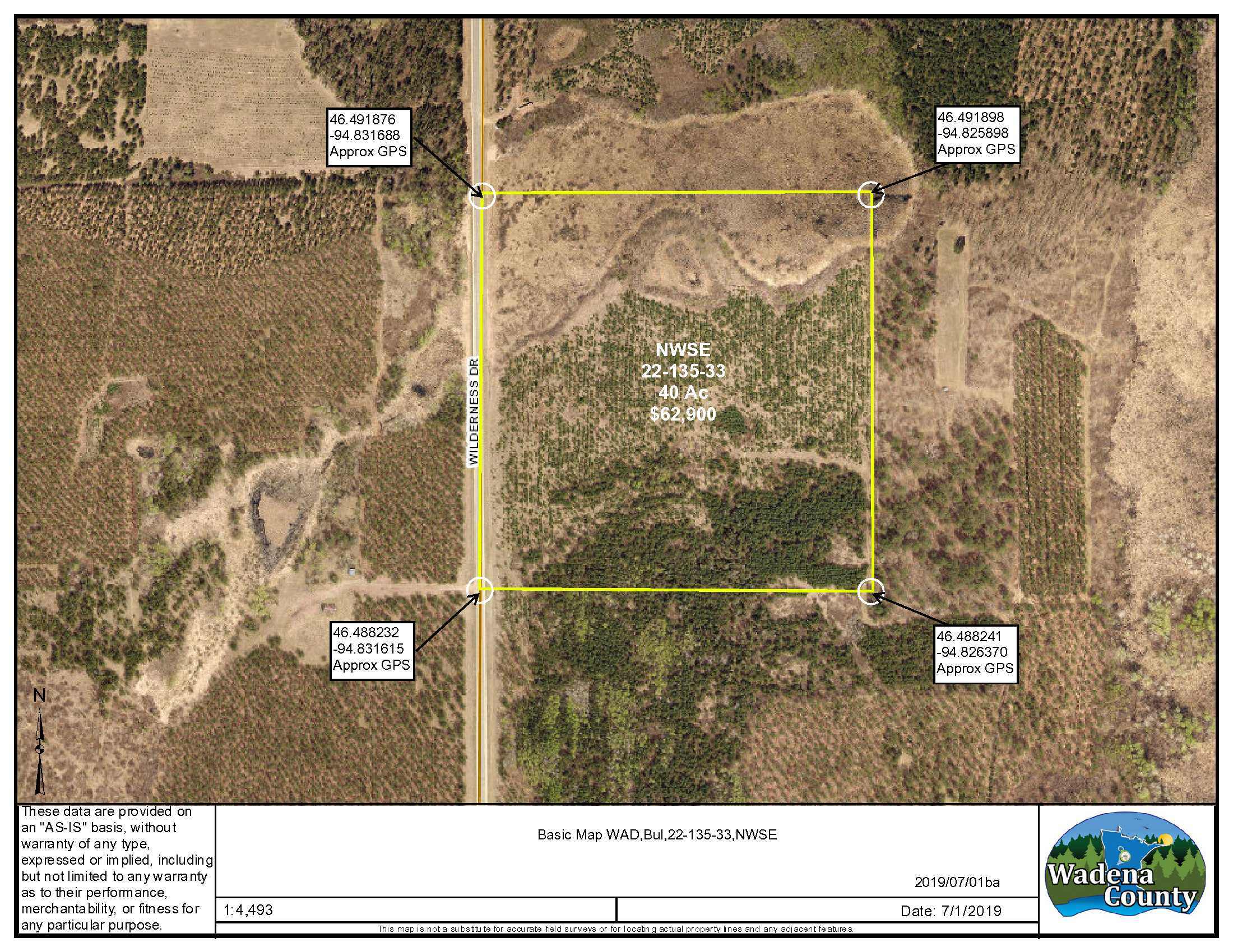 NWSE Wilderness Dr, Bullard Twp, Staples, Wadena County