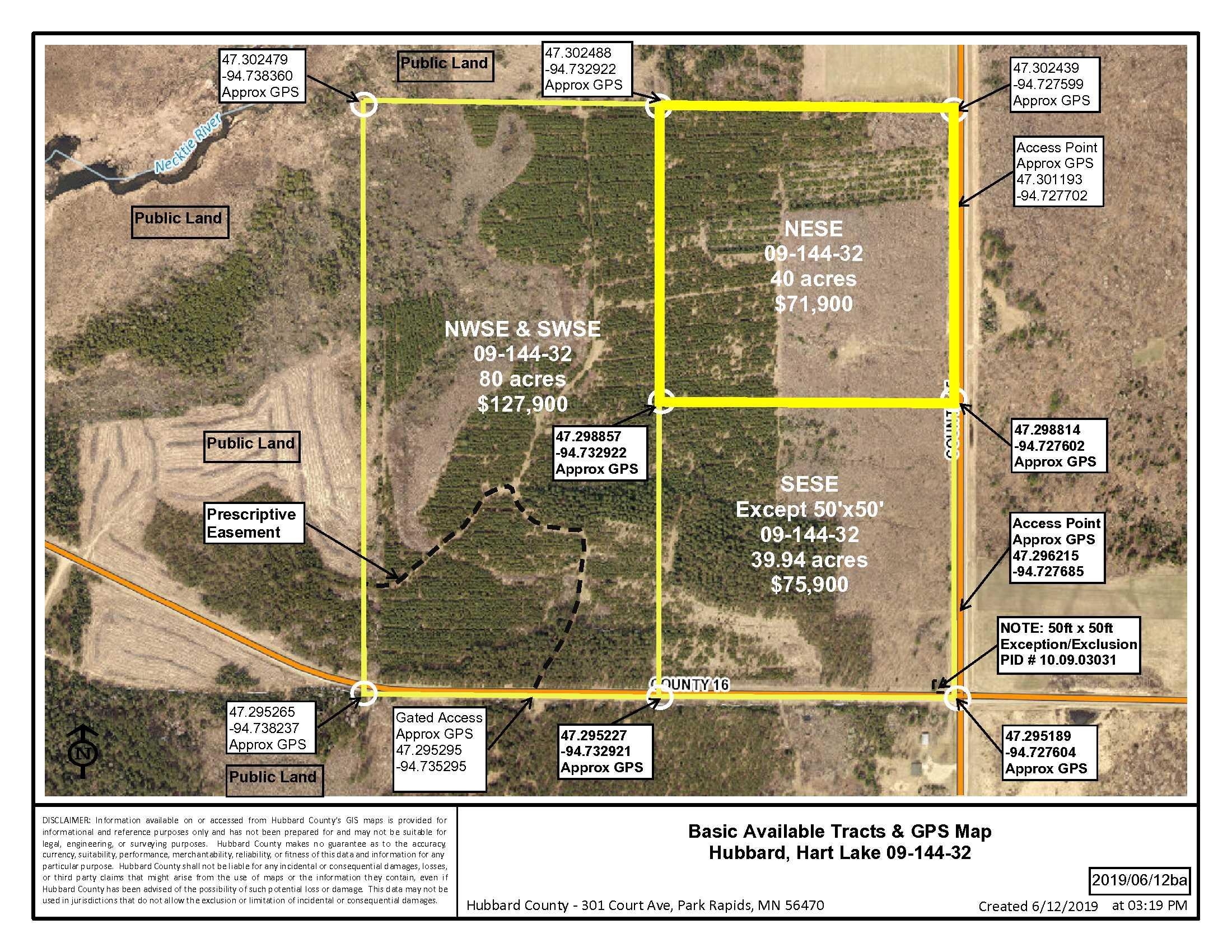 NESE, Co Rd 45, Hart Lake Twp, Laporte, Hubbard County