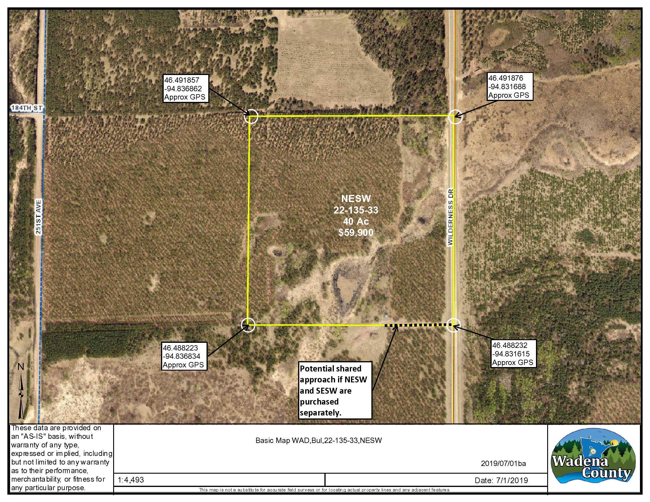 NESW Wilderness Dr., Bullard Twp., Staples, Wadena County