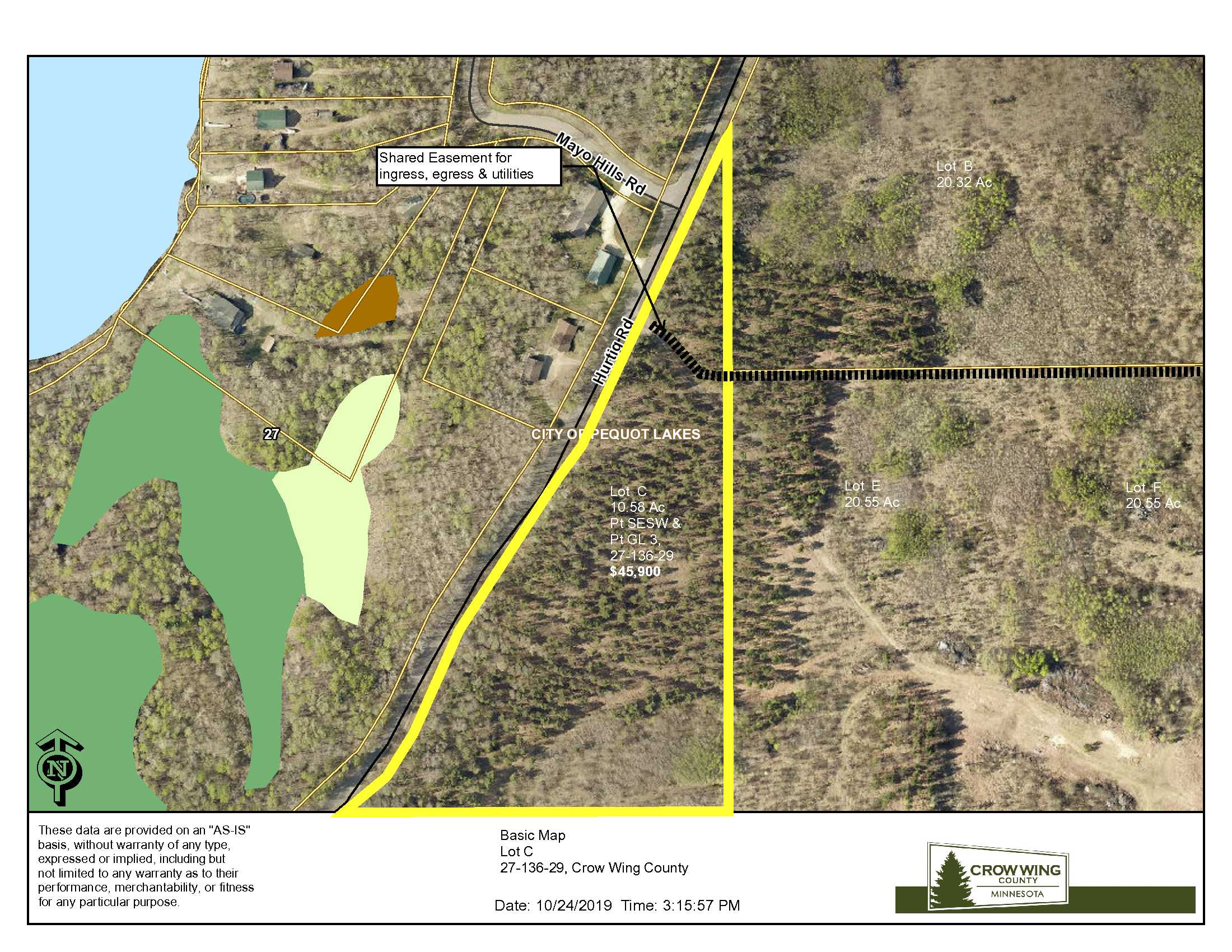 Lot C, 27-136-29, Hurtig Rd, Pequot Lakes, Crow Wing Co