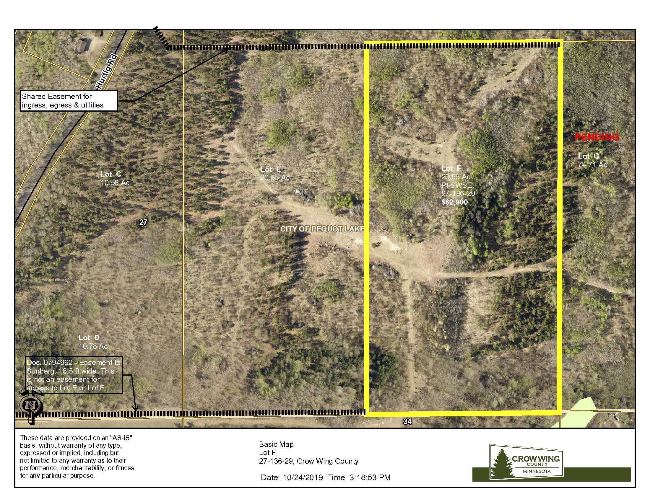 Lot F, 27-136-29, TBD Hurtig Rd, Pequot Lakes, Crow Wing Co