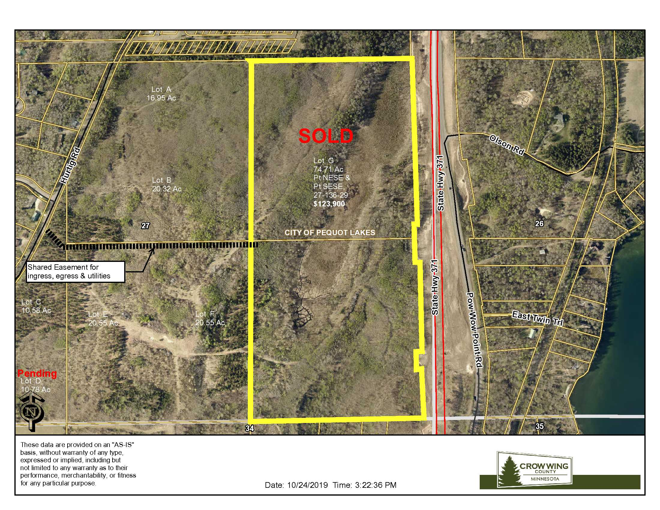 Lot G, TBD Hurtig Rd, Pequot Lakes, Crow Wing Co