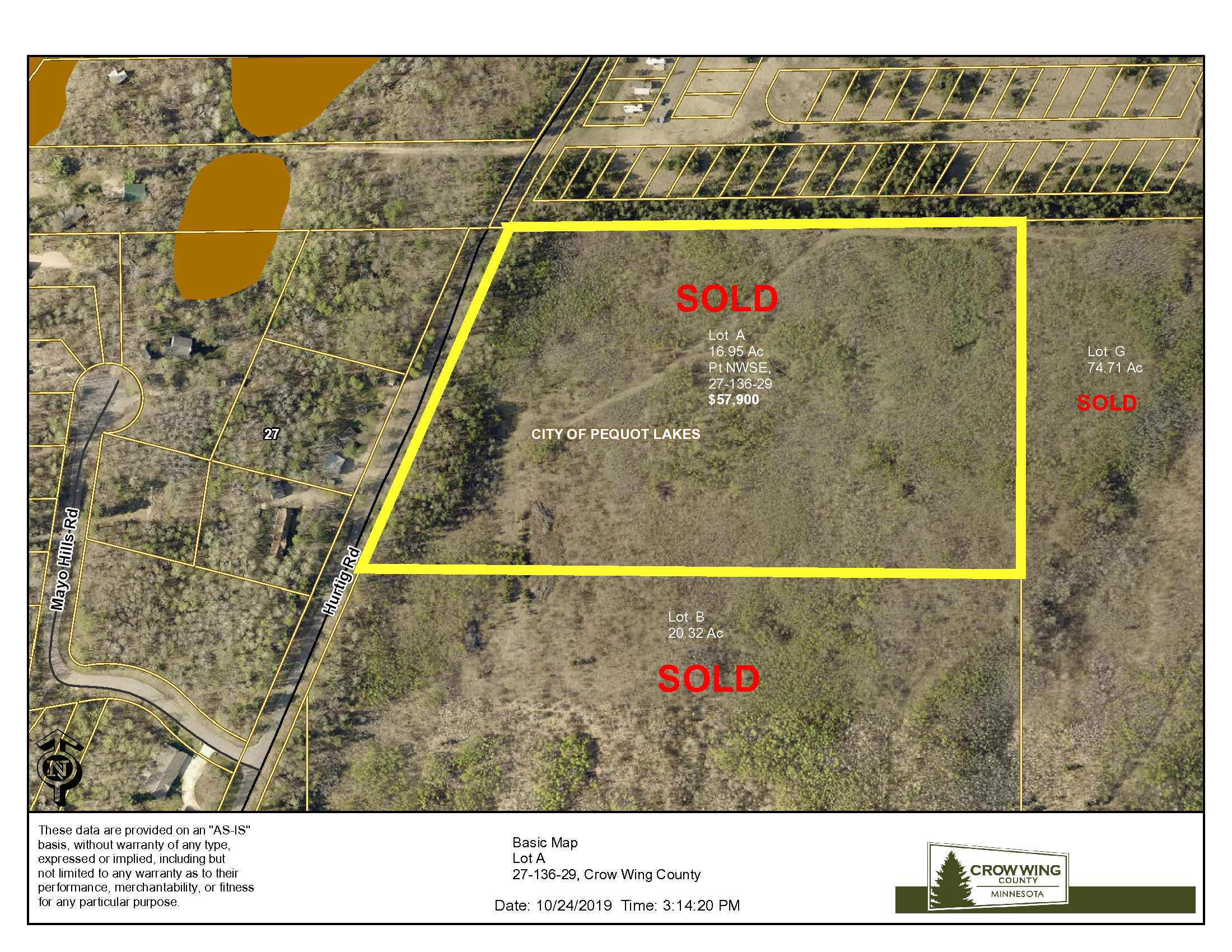 Lot A, 27-136-29, Hurtig Rd, Pequot Lakes, Crow Wing Co