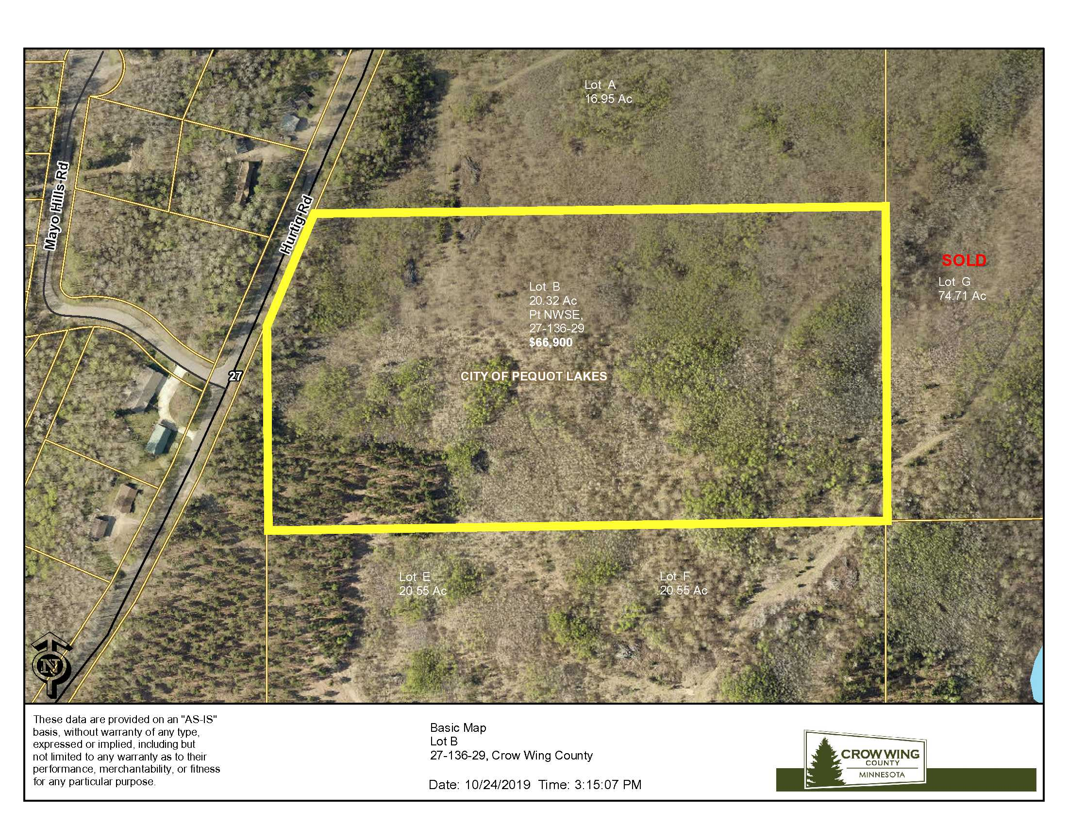 Lot B, 27-136-29, Hurtig Rd, Pequot Lakes, Crow Wing Co
