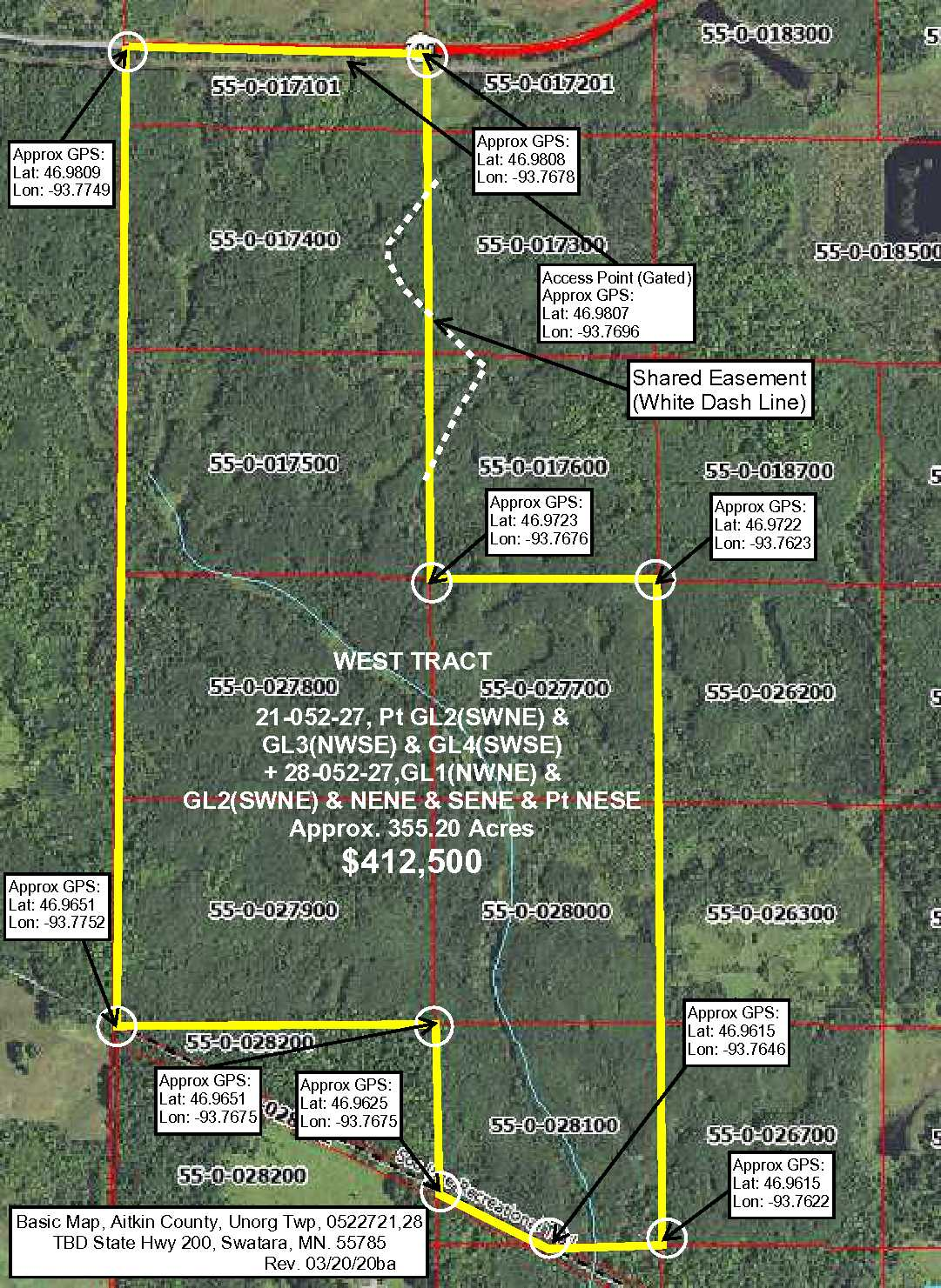 West Tract, 21&28-052-27, State Hwy #200, Unorganized, Swatara, Aitkin