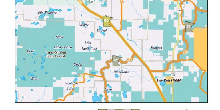 DNR Snowmobile Trails Map